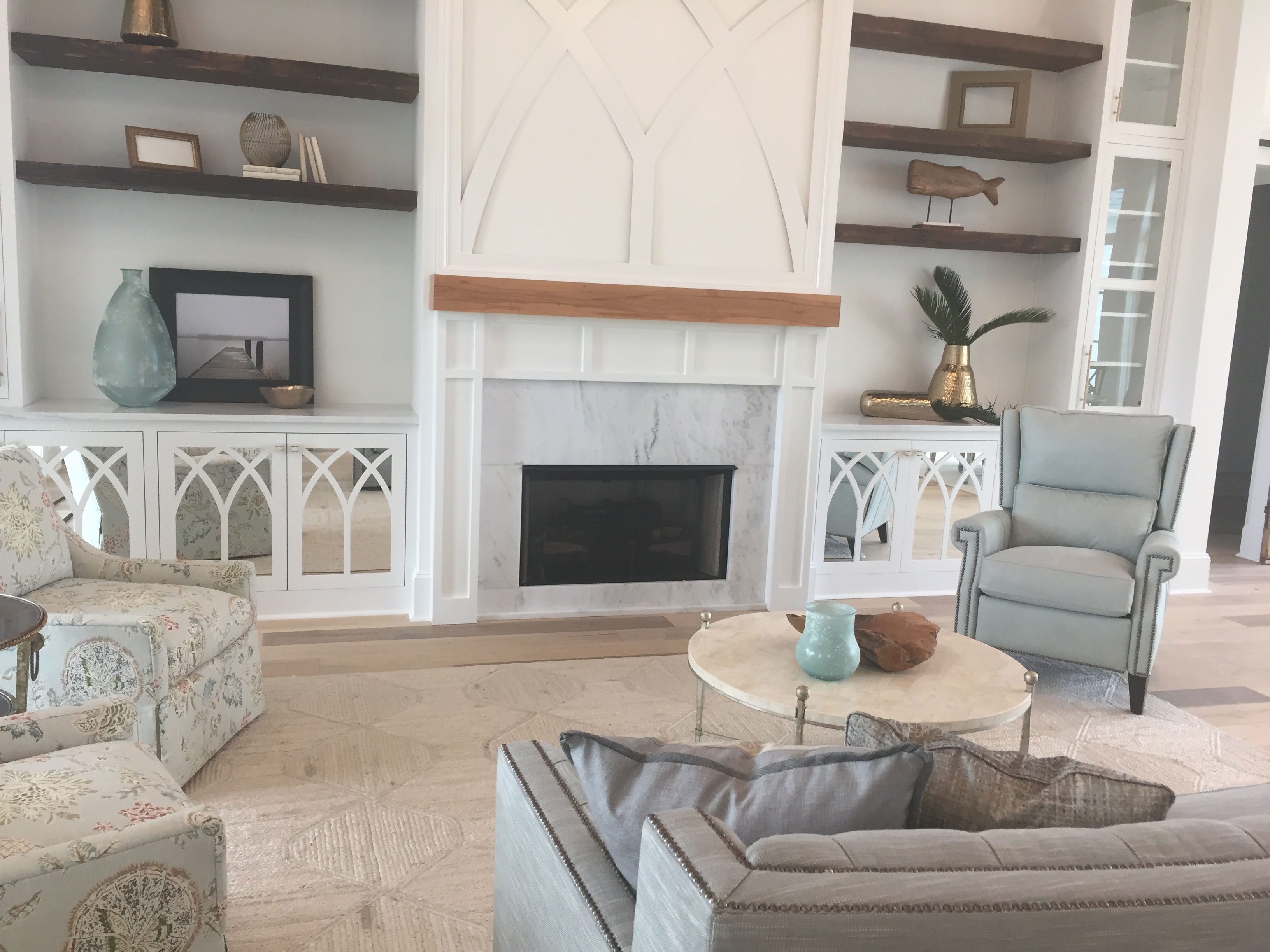 White Carrara Fireplace