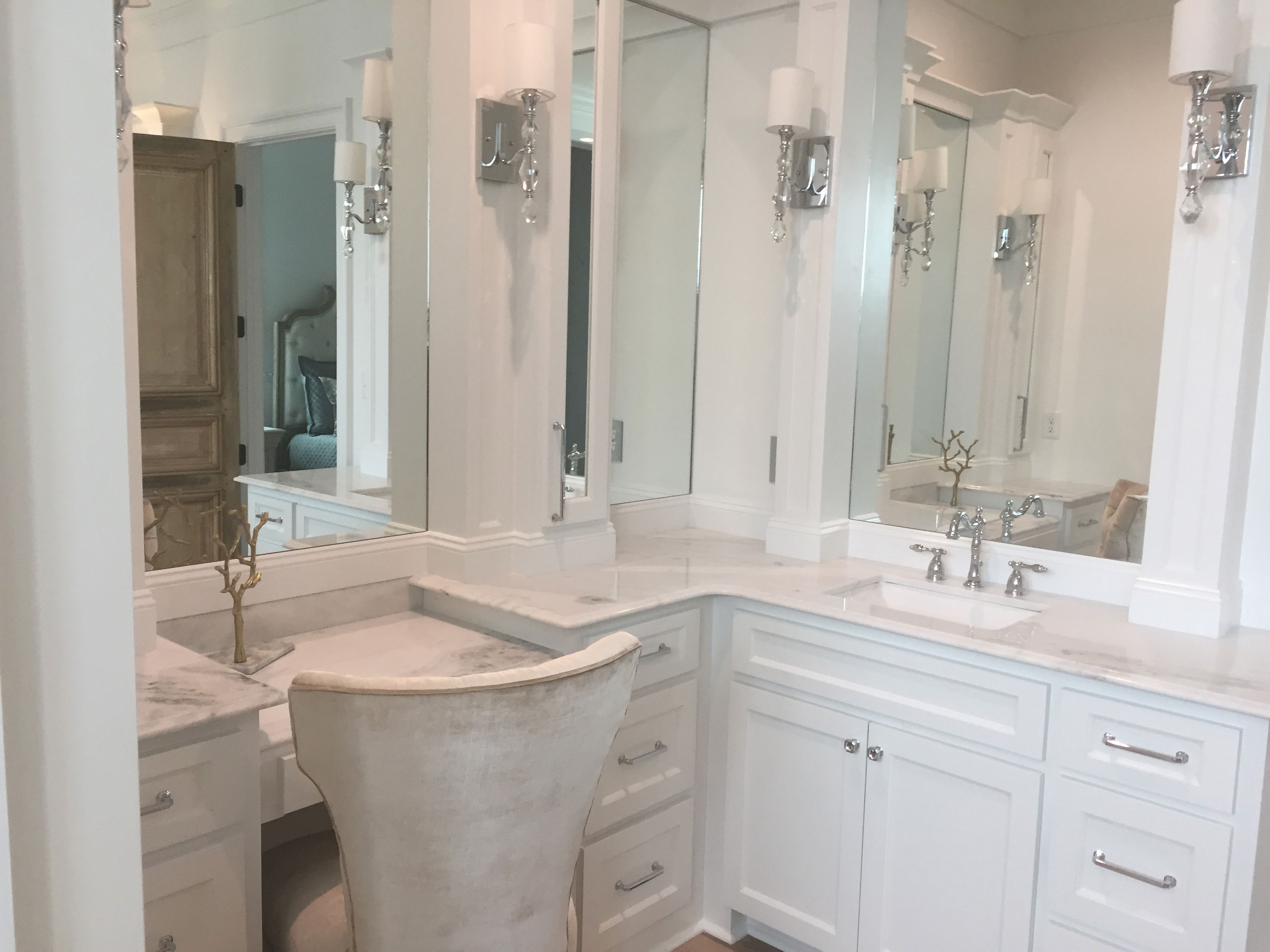 White Shadow Marble Bath Vanity